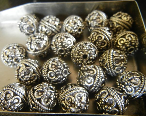 beads bali hand silver mm two crafted pinterest sterling best images x on metal genuine nellyandon