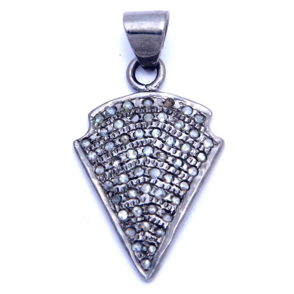 Unique Pave Diamond Arrowhead Charm Pendant | Indian Gemstone Exporters JO51